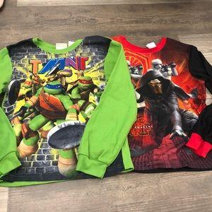 Star Wars and Teenage Ninja Turtles Fleece PJ tops